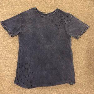 cute distressed j story blue T-shirt